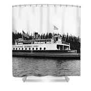Puget Sound Ferry Boat Shower Curtain