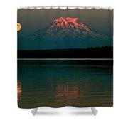 Puget Sound Moonrise Shower Curtain