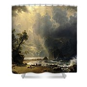 Puget Sound On The Pacific Coast Shower Curtain