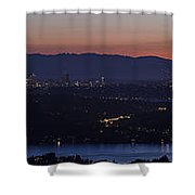 Puget Sound Panorama Shower Curtain