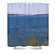 Puget Sound Panoramic Shower Curtain