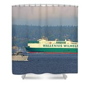 Puget Sound Shipping Waterway Shower Curtain