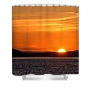 Puget Sound Sunset - Washington Shower Curtain