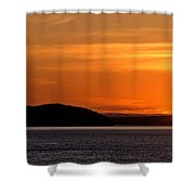 Puget Sound Sunset - Washington Shower Curtain by Brian Harig