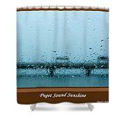 Puget Sound Sunshine Shower Curtain