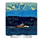 Puget Sound Tugboat Shower Curtain