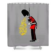Puke Royal Guard Digital Version Shower Curtain