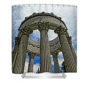Pulgas Water Temple Shower Curtain