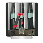 Pulley And Pail Shower Curtain