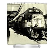 Pulling Into New London Shower Curtain