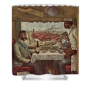 Pullman Compartment Cars Ad Circa 1894 Shower Curtain