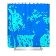 Pulp Fiction Dance Blue Shower Curtain