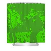 Pulp Fiction Dance Green Shower Curtain