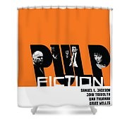 Pulp Fiction Poster Shower Curtain
