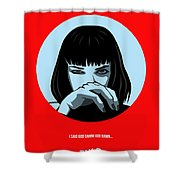 Pulp Fiction Poster 3 Shower Curtain