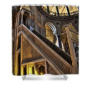 Pulpit In The Aya Sofia Museum In Istanbul  Shower Curtain by David Smith
