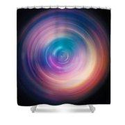 Pulse Spin Art Shower Curtain
