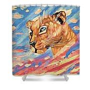 Puma On Watch Shower Curtain