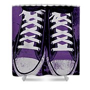 Pumped Up Purple Shower Curtain