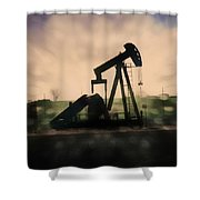 Pumpin Oil Shower Curtain