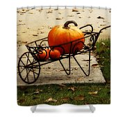 Pumpkin Barrow Shower Curtain