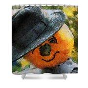Pumpkin Face Photo Art 06 Shower Curtain