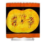 Pumpkin Half Shower Curtain
