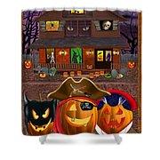 Pumpkin Masquerade Shower Curtain
