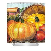 Pumpkin Pickin Shower Curtain by Carol Wisniewski
