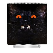 Pumpkin Puss Shower Curtain