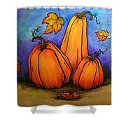 Pumpkin Trio Shower Curtain