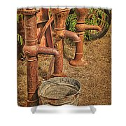 Pumps Gone Dry Shower Curtain