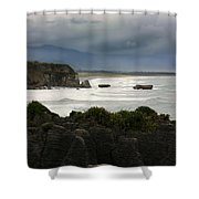 Punakaiki Rocks Shower Curtain