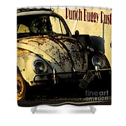 Punch Buggy Rust Shower Curtain