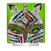 Punda Milia Shower Curtain by Apanaki Temitayo M