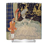 Punishing The Page  Shower Curtain by Georges Barbier