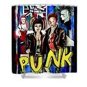 Punk Style Shower Curtain