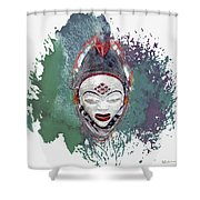 Punu Mask - Maiden Spirit Mukudji Shower Curtain