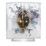 Punu Prosperity Mask Shower Curtain