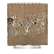 Puppy Brigade Shower Curtain