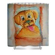 Puppy Shower Curtain