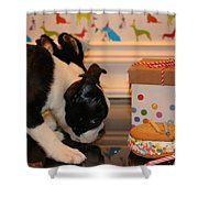 Puppy Party Shower Curtain