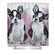 Puppy Puppy Shower Curtain