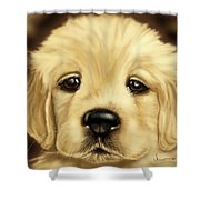 Puppy Shower Curtain by Veronica Minozzi