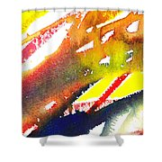 Pure Color Inspiration Abstract Painting Linea Forces Shower Curtain