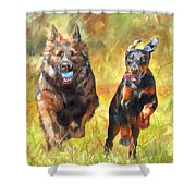Pure Joy Shower Curtain by David Stribbling