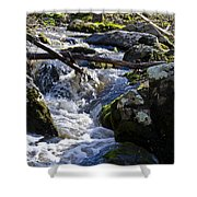 Pure Mountain Stream Shower Curtain