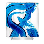 Pure Water 302 - Blue Abstract Art By Sharon Cummings Shower Curtain