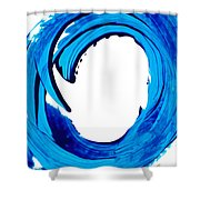 Pure Water 312 - Blue Abstract Art By Sharon Cummings Shower Curtain