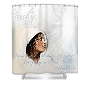 Purity Shower Curtain by Jennifer Page